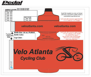 Velo Atlanta Insulated 23oz Purist-  50 bottles