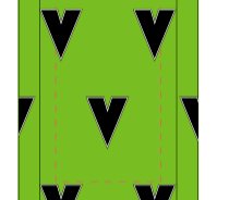 Vite SUBLIMATED SOCK - GREEN - SHIPS IN ABOUT 4 WEEKS