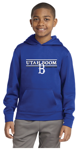 UTAH BOOM YOUTH HOODIEHORIZONTAL LOGO