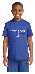 UTAH BOOM YOUTH T HORIZONTAL LOGO