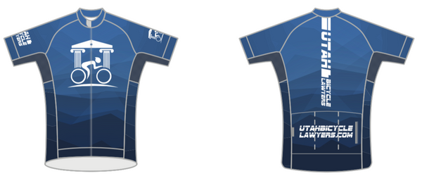 UTAH BICYCLE LAWYERS '18 BLUE CLUB CUT JERSEY