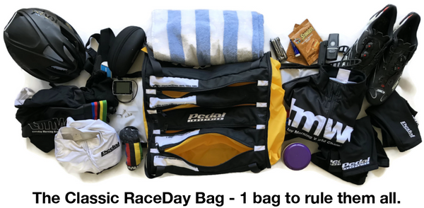 GET MASTER RACEDAY BAG - ships in about 3 weeks