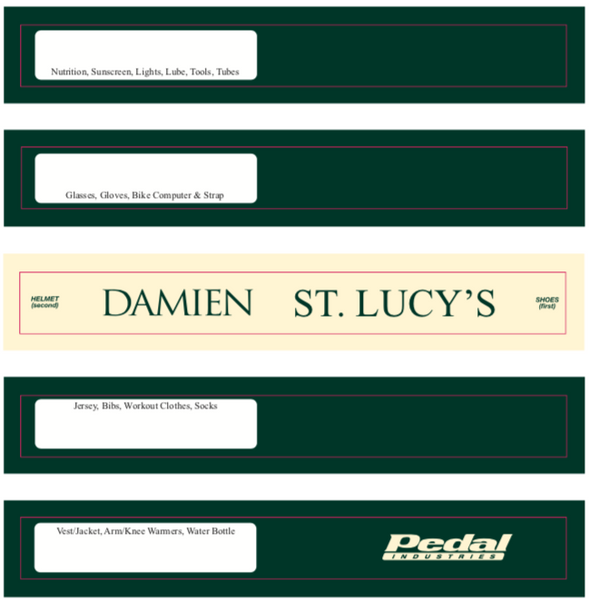 Damien and Saint Lucy's RACEDAY BAG - ships in about 3 weeks