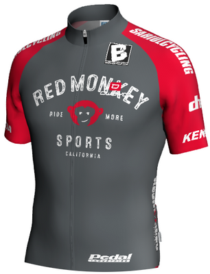 RED MONKEY '18 SPEED JERSEY - GRAY