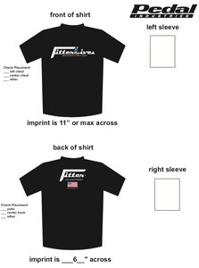FitterLives SUBLIMATED RACE T-SHIRT - Black