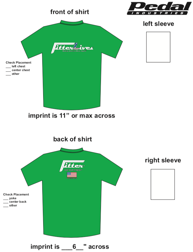 FitterLives SUBLIMATED RACE T-SHIRT - GREEN
