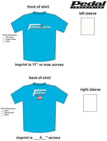 FitterLives SUBLIMATED RACE T-SHIRT - Light Blue