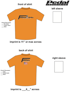 FitterLives SUBLIMATED RACE T-SHIRT - ORANGE