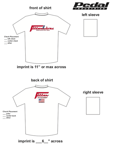 FitterLives SUBLIMATED RACE T-SHIRT - WHITE