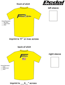FitterLives SUBLIMATED RACE T-SHIRT - YELLOW