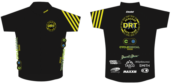 DRT '19 RACE JERSEY Half Sleeve BLACK - Ships In About 4 weeks