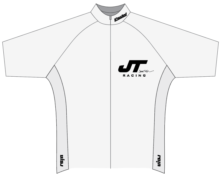 JT Racing RACE JERSEY 1/2 Sleeve-WHITE