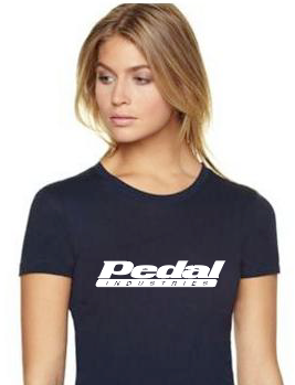 PEDALindustries BLK/WHT T-shirt Ladies