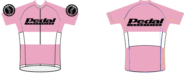 PEDAL industries '19 Team SPEED JERSEY HALF SLEEVE - PINK