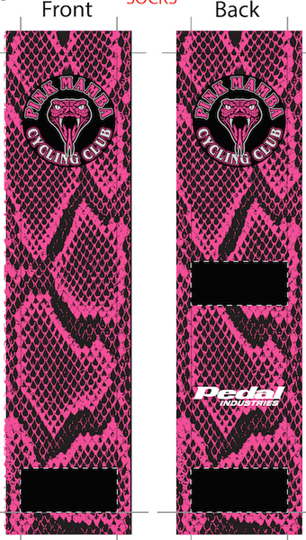 Pink Mamba Snakeskin SUBLIMATED SOCK - SHIPS IN ABOUT 4 WEEKS