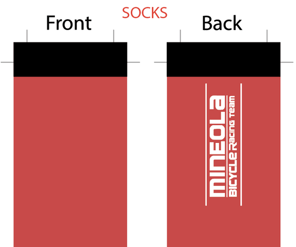 Mineola SUBLIMATED SOCK - SHIPS IN ABOUT 4 WEEKS