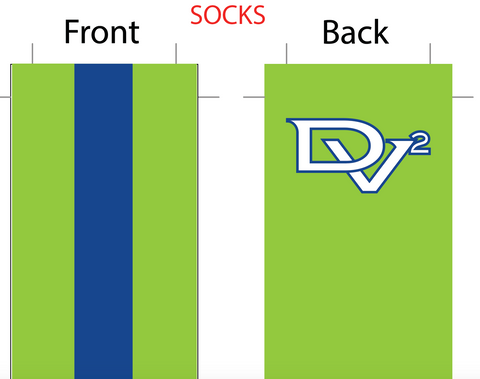 Delta Valley Velo SUBLIMATED SOCK - SHIPS IN ABOUT 3 WEEKS
