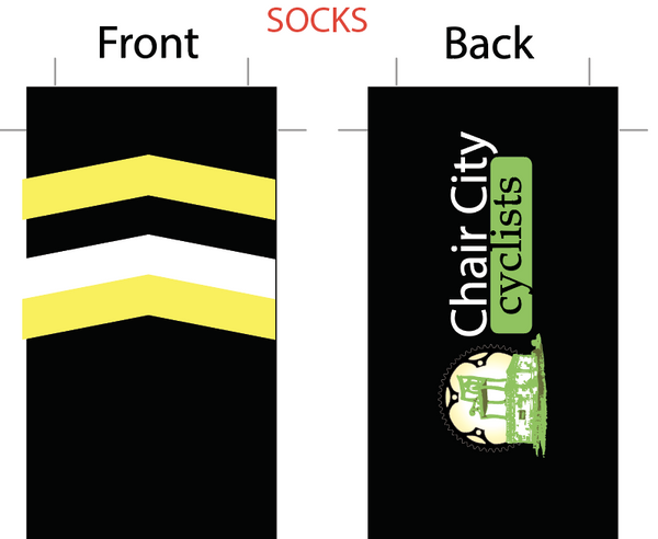 Chair CIty SUBLIMATED SOCK - SHIPS IN ABOUT 4 WEEKS