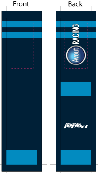 Avout SUBLIMATED SOCK - SHIPS IN ABOUT 4 WEEKS