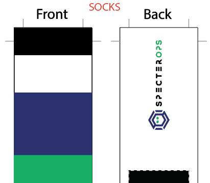Specter Ops SUBLIMATED SOCK - SHIPS IN ABOUT 3 WEEKS