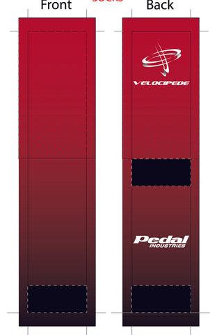 VELOCIPEDE RED SUBLIMATED SOCK - SHIPS IN ABOUT 4 WEEKS