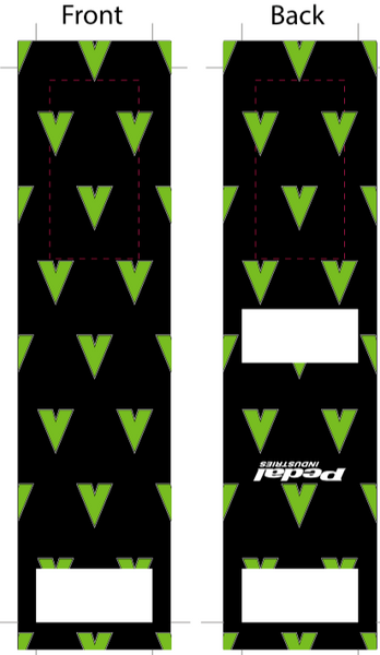 Vite SUBLIMATED SOCK - BLACK - SHIPS IN ABOUT 4 WEEKS