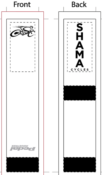 Shama White/Black SUBLIMATED SOCK - SHIPS IN ABOUT 4 WEEKS