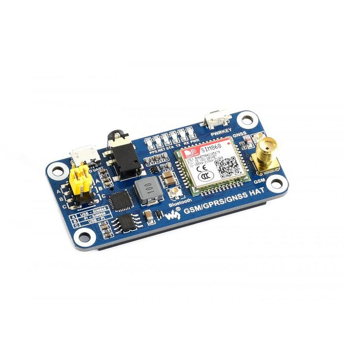 GSM / GNSS / GPRS / Bluetooth HAT for Raspberry Pi