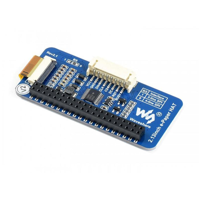 2.13 Inch E Ink Display HAT for Raspberry Pi 212x104p SPI Interface 3 Color