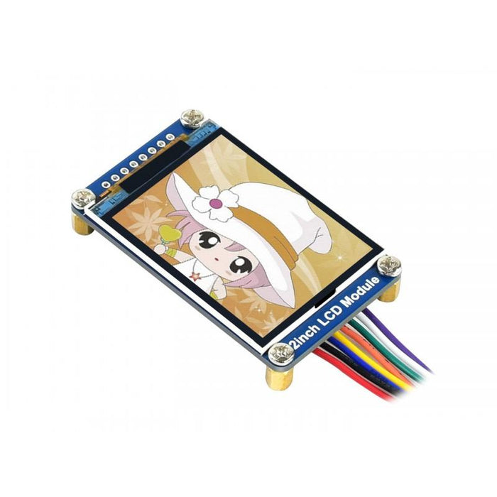 240x320p 2.0 inch RGB IPS LCD 262K ST7789 Driver SPI Interface 3.3V Low Power