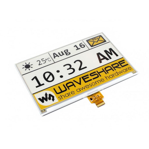 7.5 inch Three Color E Ink Raw Display 640x384p with SPI Interface