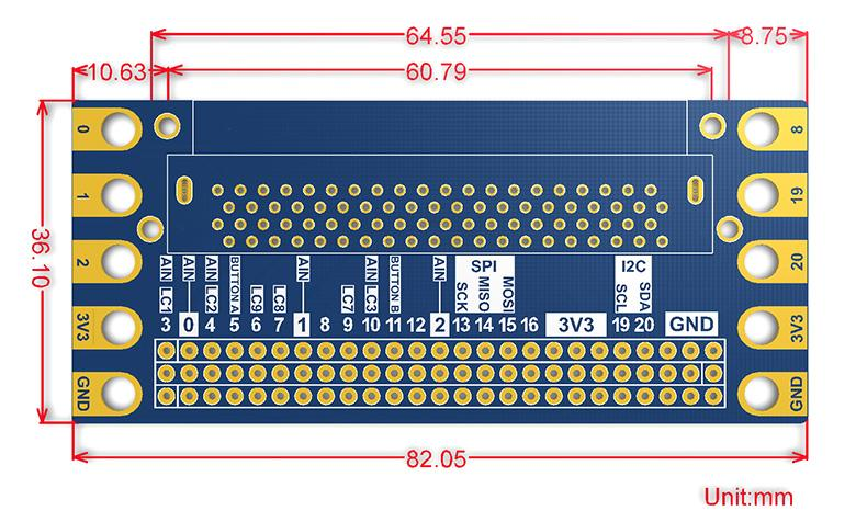 Edge Connector Breakout I/O Expansion for BBC micro:bit
