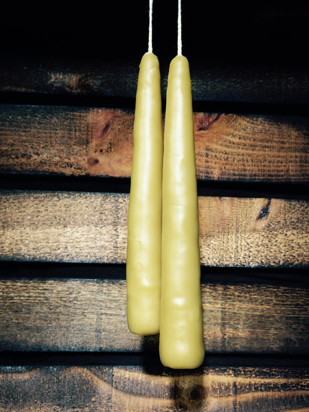 Hand Dipped Bees Wax Candles Set of 2