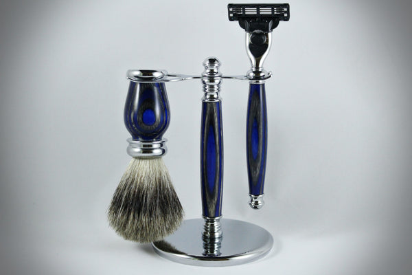 Classic Shaving Kit - Blue Grey