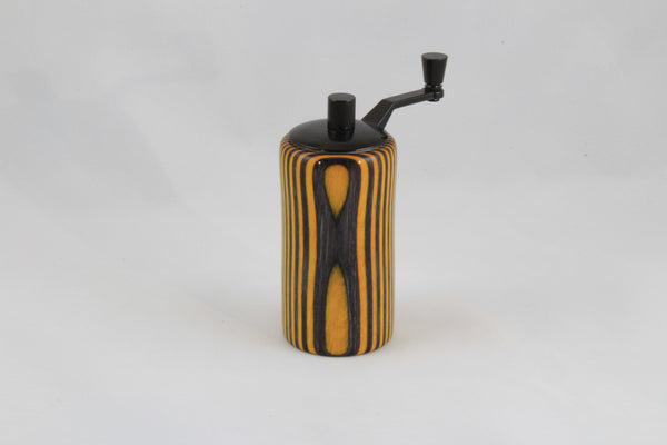 Vintage Salt and Pepper Grinder - Yellow and Grey