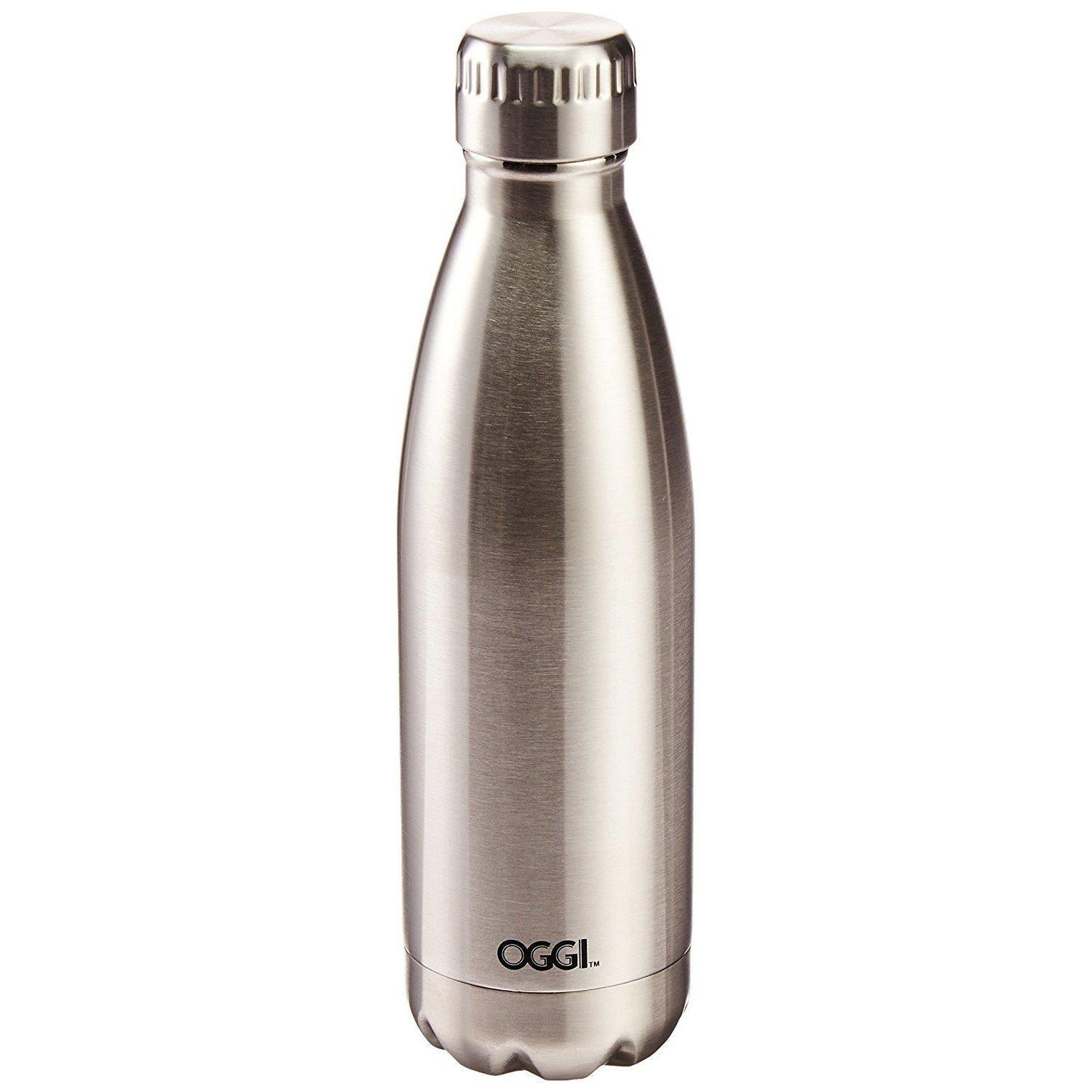Oggi 8085.2 Stainless Steel Calypso Double Wall Sports Bottle with Screw Top .05
