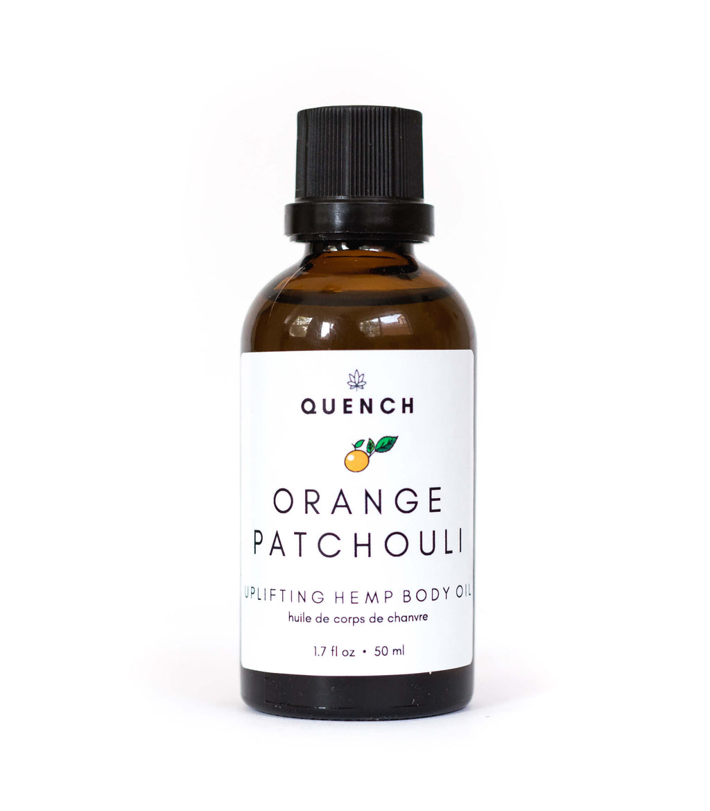 ORANGE PATCHOULI HEMP BODY OIL