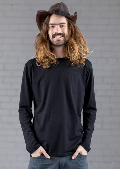 Bamboulo long sleeve black shirt