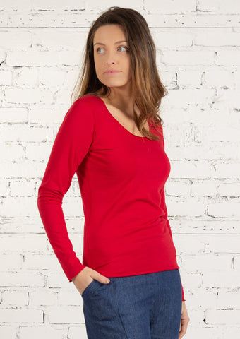 JULIETTE L/S MERROW chilli