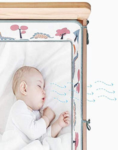 Airoya® Premium 4-Sided Breathable Cot Bumper, Double Layers for Extra-Padding, Free from Entanglement Risk Design, BS 1877 Safety Compliance, Airflow Safe 3D Mesh Crib Liner