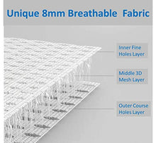 Load image into Gallery viewer, Airoya® Premium 4-Sided Breathable Cot Bumper, Double Layers for Extra-Padding, Free from Entanglement Risk Design, BS 1877 Safety Compliance, Airflow Safe 3D Mesh Crib Liner