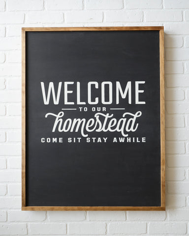 welcome sign, welcome wood sign, farmhouse home decor, farmhouse wood sign, homestead sign, come stay sign, farmhouse welcome sign
