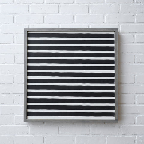 BLACK AND WHITE STRIPED LAYERING SIGN