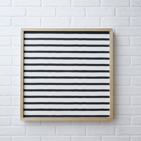 WHITE AND BLACK STRIPED LAYERING SIGN