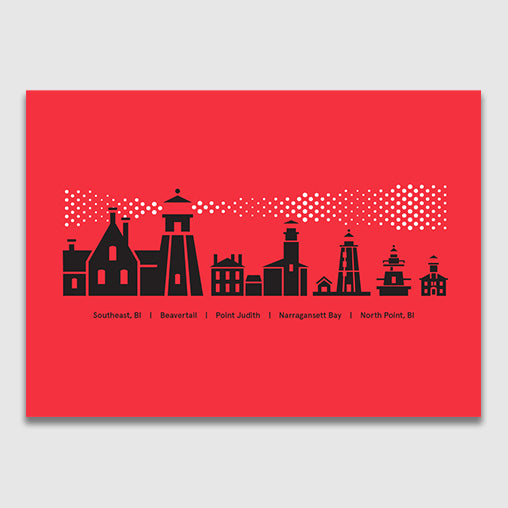 Rhode Island Lighthouses Greeting Card