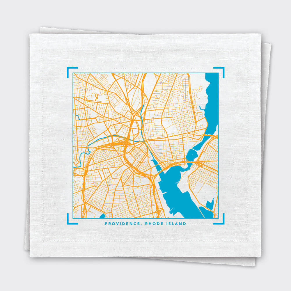 Providence Map Tea Towel