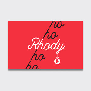 Rhody Ho-Ho-Ho Greeting Card (5-Pack)