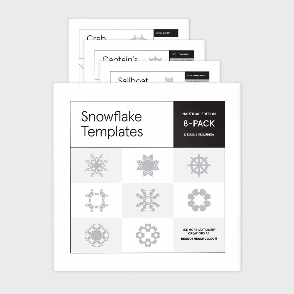 Rhode Island Nautical Snowflake Templates (8-Pack)