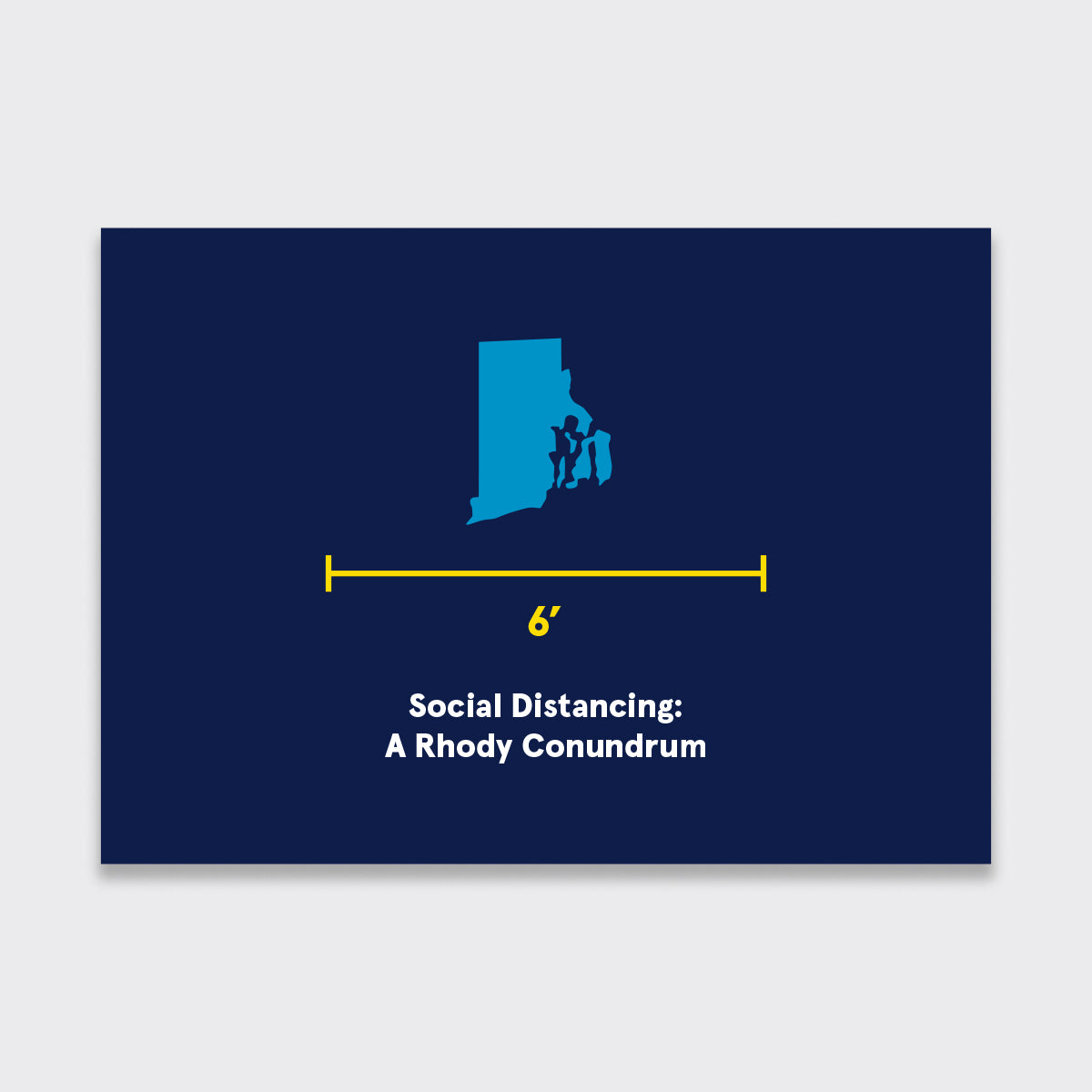 Rhody Social Distancing Holiday Card Pack