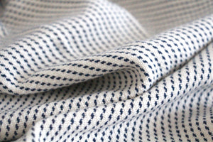 White Pinstripe Towel by Gently Woven